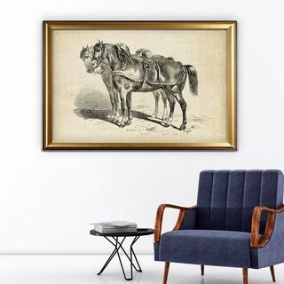 Equine Plate I - Gold Frame