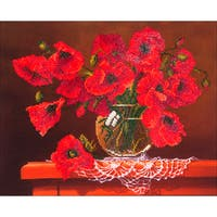"Diamond Dotz Diamond Embroidery Facet Art Kit 23""X19""-Red Poppies"