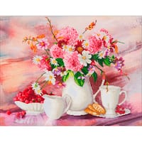 "Diamond Dotz Diamond Embroidery Facet Art Kit 31.5""X25""-Romantic Tea Time"