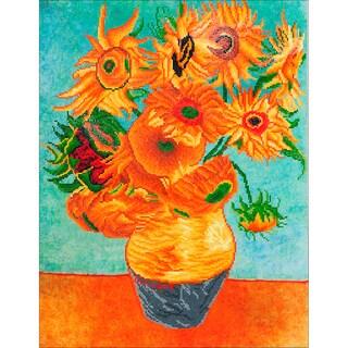 "Diamond Dotz Diamond Embroidery Facet Art Kit 63""X29.5""-Sunflowers (Van Gogh)"