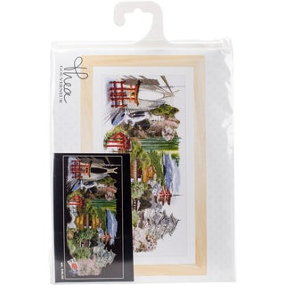 "Japan Black Edition On Aida Counted Cross Stitch Kit-31""X13.75"" 18 Count"