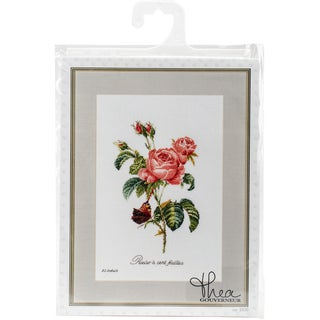 "Rose Redoute On Aida Counted Cross Stitch Kit-10.25""X14.75"" 18 Count"