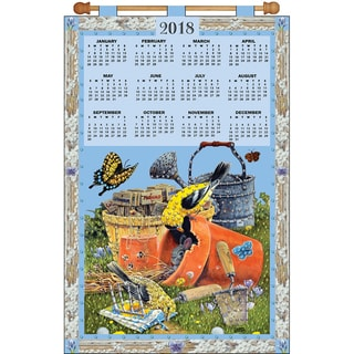 Design Works 2018 Calendar Felt Applique Kit-Gardening