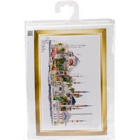 "Istanbul On Aida Counted Cross Stitch Kit-31""X19.5"" 18 Count"