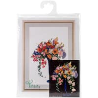 """Summer On Aida Counted Cross Stitch Kit-13""""X19"""" 18 Count"""