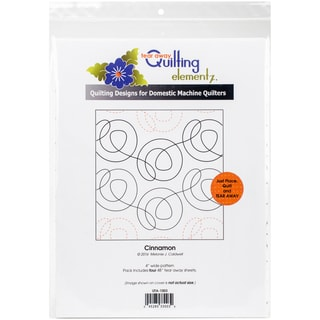 Quilting Creations Printed Tear Away Quilting Paper 4/Pkg-Cinnamon 4""