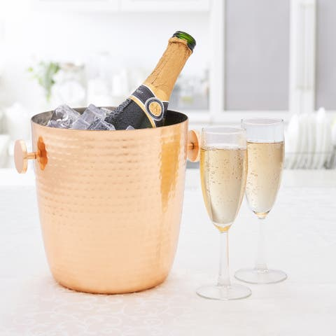 Aura Hammered Copper Champagne Bucket, 5 Qt.