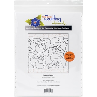 Quilting Creations Printed Tear Away Quilting Paper 4/Pkg-Loose Leaf 4.25""