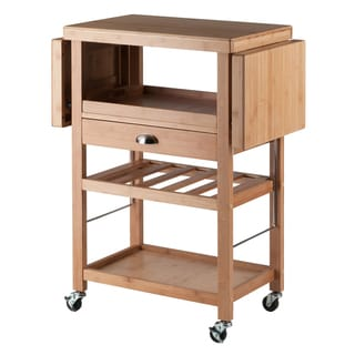 Barton Wood and Metal Kitchen Cart