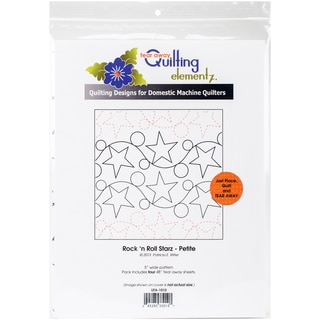 """Quilting Creations Printed Tear Away Quilting Paper 4/Pkg-Rock 'n Roll Starz-Petite 5"""""""