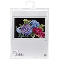 """Hydrangea & Rose On Aida Counted Cross Stitch Kit-15.25""""X9.75"""" 18 Count"""