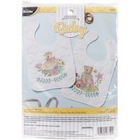 "Sweet Baby Bibs Stamped Cross Stitch Kit-9""X14"" Set Of 2"