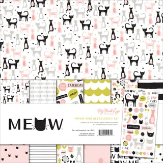 "My Mind's Eye Paper & Accessories Kit 12""X12""-Meow"