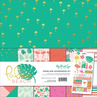 "My Mind's Eye Paper & Accessories Kit 12""X12""-Palm Beach"