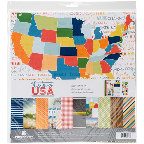 "Paper House Paper Crafting Kit 12""X12""-Discover USA"