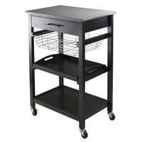 Julia Black Granite Counter-top Utility Cart