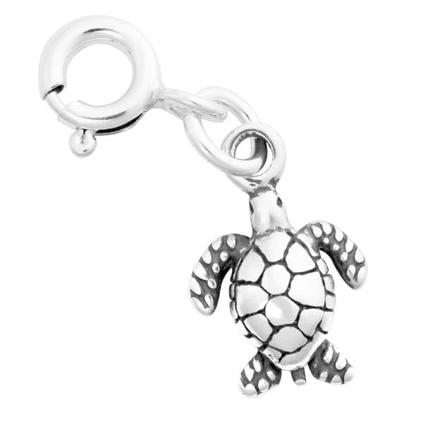 ebadfc87ee0d1 Sterling Silver Small Sea Turtle Charm