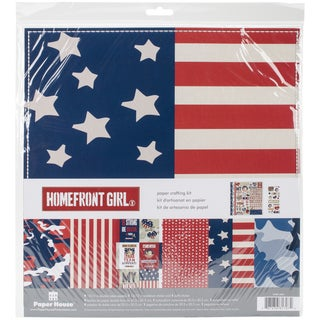 "Paper House Paper Crafting Kit 12""X12""-Homefront Girl"