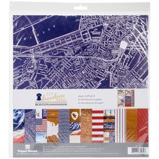 """Paper House Paper Crafting Kit 12""""X12""""-Let Freedom Ring/Boston"""
