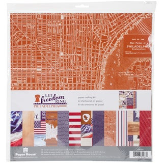 "Paper House Paper Crafting Kit 12""X12""-Let Freedom Ring/Philadelphia"