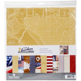 "Paper House Paper Crafting Kit 12""X12""-Let Freedom Ring/Washington"