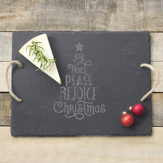 Christmas Tree Slate Serving Board