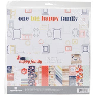 """Paper House Paper Crafting Kit 12""""X12""""-One Big Happy Family"""