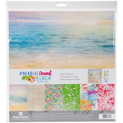 """Paper House Paper Crafting Kit 12""""X12""""-Paradise Found Beach"""