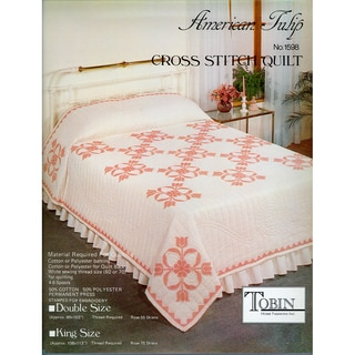 Stamped Cross Stitch Quilt 90X103-Colorful Tulip