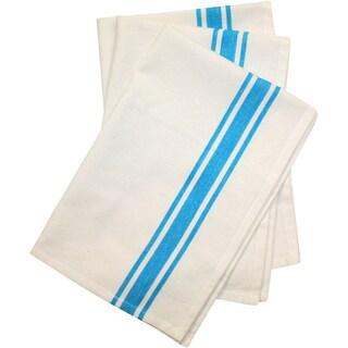 "Stitch 'Em Up Retro Stripe Towels 18""X28"" 3/Pkg-Turquoise Stripe"