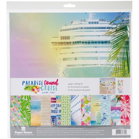 """Paper House Paper Crafting Kit 12""""X12""""-Paradise Found Cruise"""