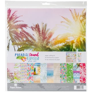 """Paper House Paper Crafting Kit 12""""X12""""-Paradise Found Florida"""