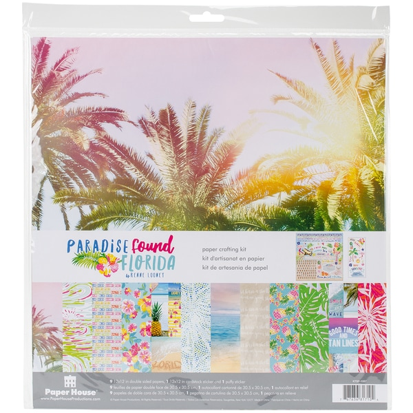 "Paper House Paper Crafting Kit 12""X12""-Paradise Found Florida"