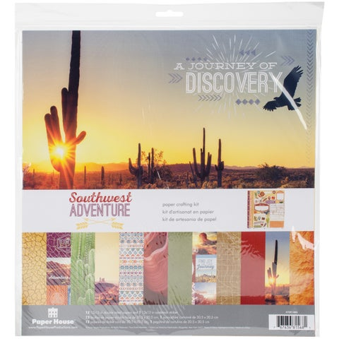 """Paper House Paper Crafting Kit 12""""X12""""-Southwest Adventure"""