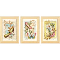 """Deco Butterflies Minitures On Aida Counted Cross Stitch Kit-3""""X4.5"""" 18 Count"""