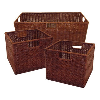 Leo Set of 3 Wired Baskets, 1 Large and 2 Small