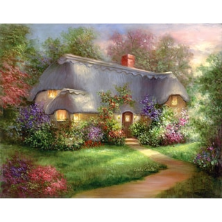 "Acrylic Paint Your Own Masterpiece Kit 11""X14""-Enchanted Cottage"