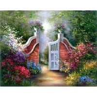 "Acrylic Paint Your Own Masterpiece Kit 11""X14""-Garden Gate"