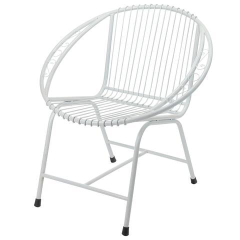 Handmade Veranda Filigree Metal Wire Chair (Indonesia)