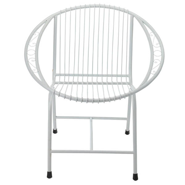 Nice Veranda Metal Wire Chair, White Filigree (Bali)   Free Shipping Today    Overstock.com   21848912
