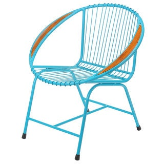 Brooklyn Metal Wire Chair, Blue (Bali)