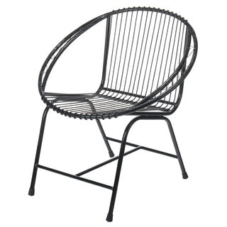 Terrace Metal Wire Chair, Black Filigree (Option: Black)
