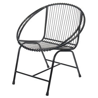 Terrace Metal Wire Chair, Black Filigree
