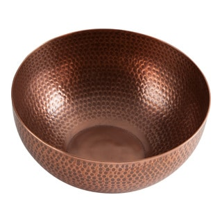 TAG Hammered Copper Serving Bowl