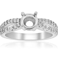 14k White Gold 3/8 CTTDW Diamond Engagement Split Shank Engagement Ring Mount Setting SZ 7  (G-H,SI1-SI2)