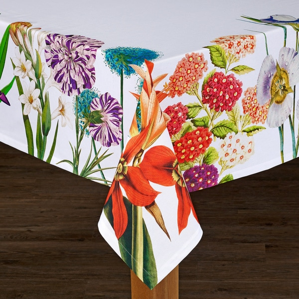 Tiger Lily Floral Cotton Tablecloth Imported from Spain