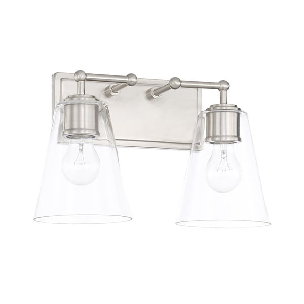 Shop Capital Lighting Signature Collection 2 Light Brushed Nickel