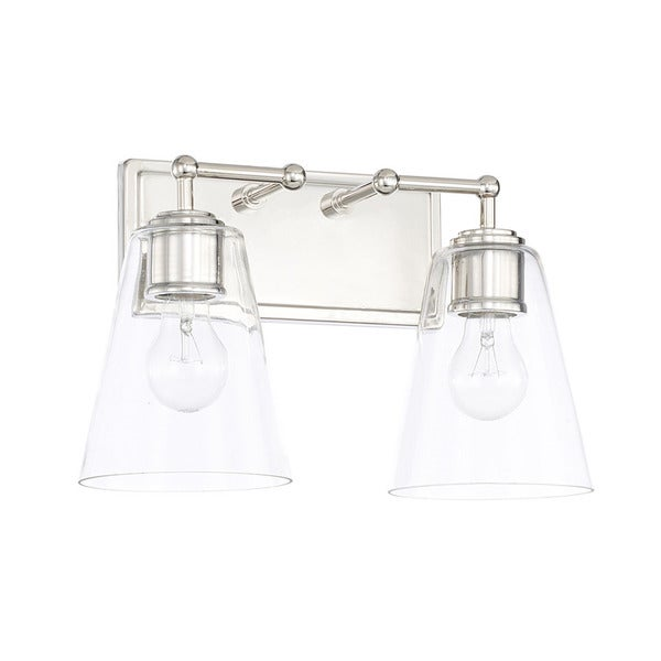 Bathroom Vanity Lights Polished Nickel capital lighting signature collection 2-light polished nickel bath