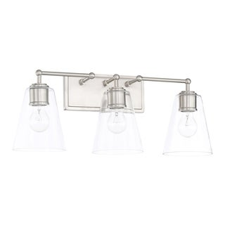 Capital Lighting Signature Collection 3-light Brushed Nickel Bath/Vanity Light