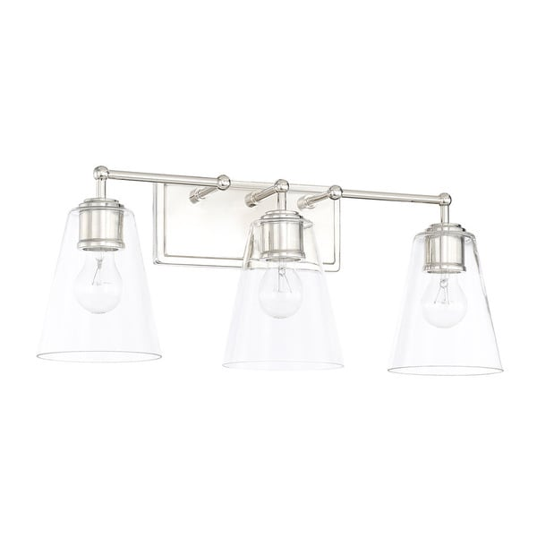 Bathroom Vanity Lights Polished Nickel capital lighting signature collection 3-light polished nickel bath